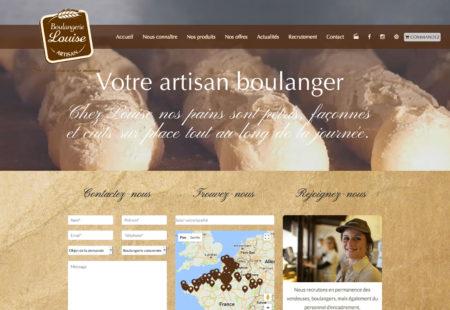 création site internet Boulangerie Louise