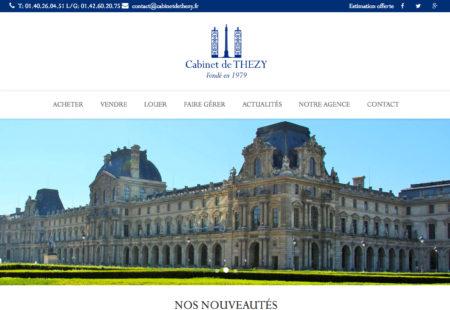 création site internet Cabinet de Thézy